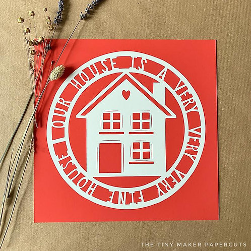 Our House Papercut - Giclee Print