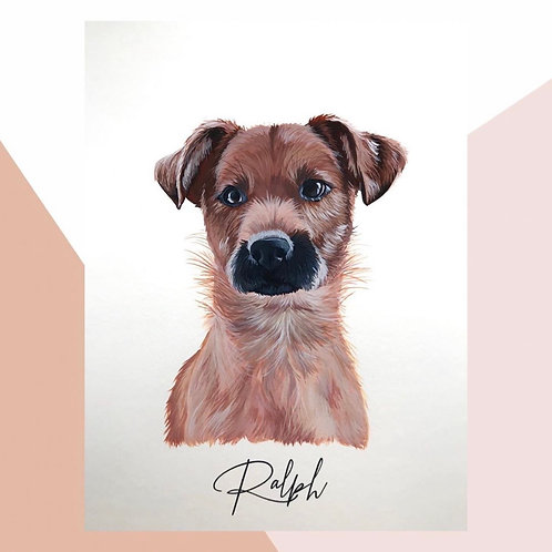 Hand Painted Pet Portrait