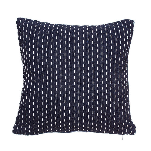 Blue stitch cushion
