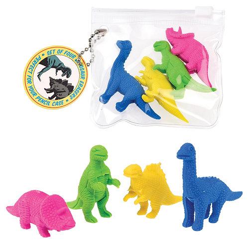 Dinosaurs eraser set