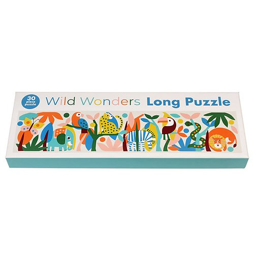 Long jungle animal puzzle