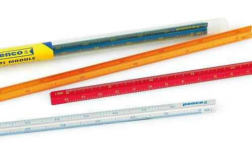 Metal drafting scale / ruler