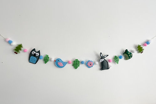 Blue & pink woodland bunting