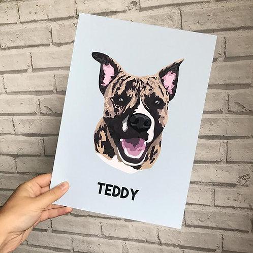Digitally Created Pet Portrait: Printed & Digital Copy