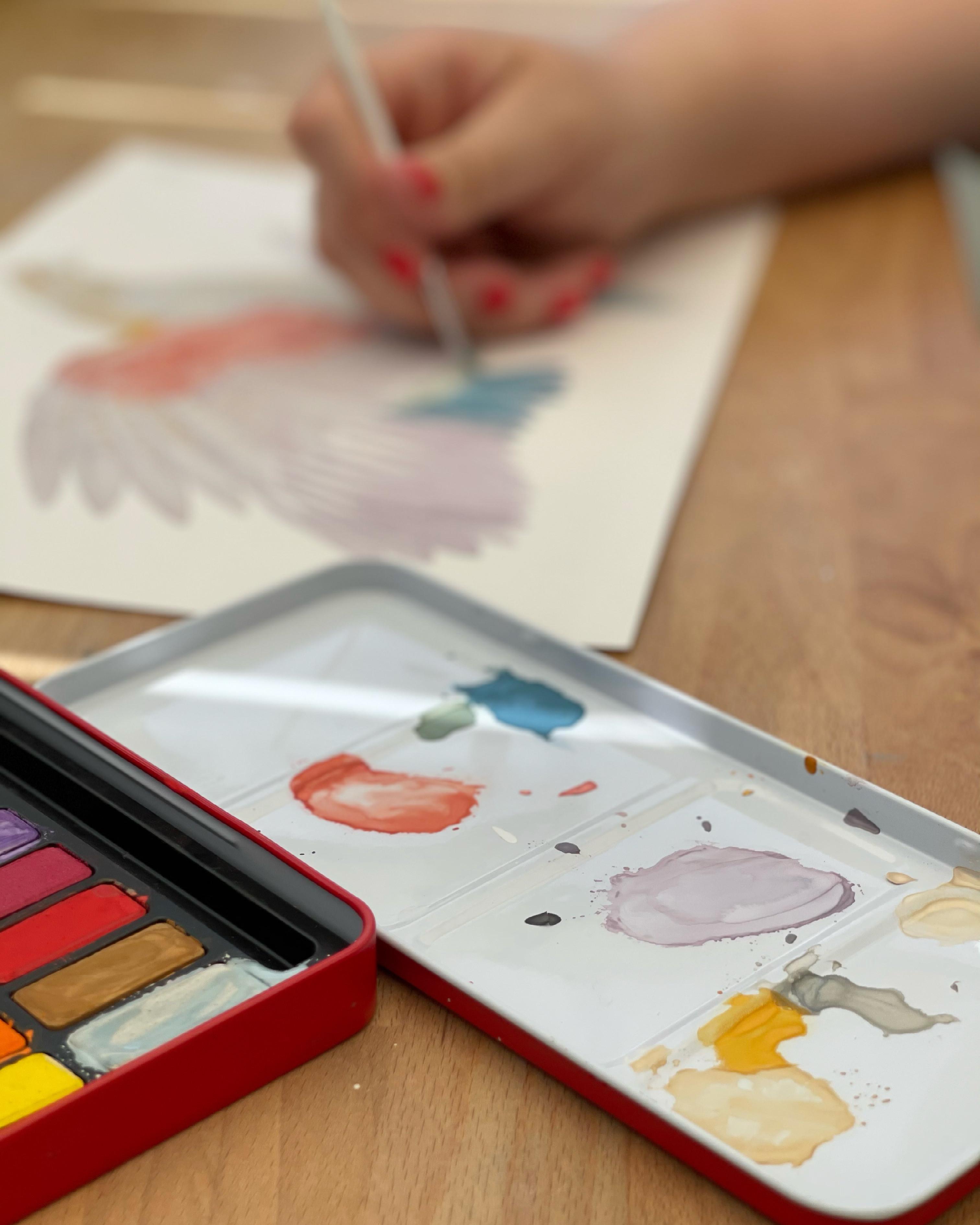 Adult watercolour birds workshop
