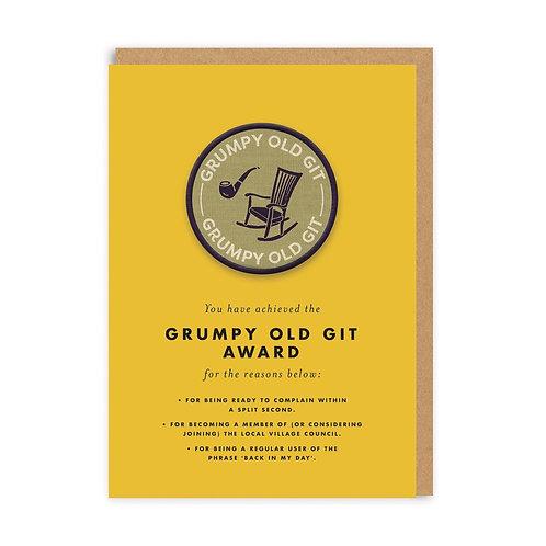 Grumpy git award card