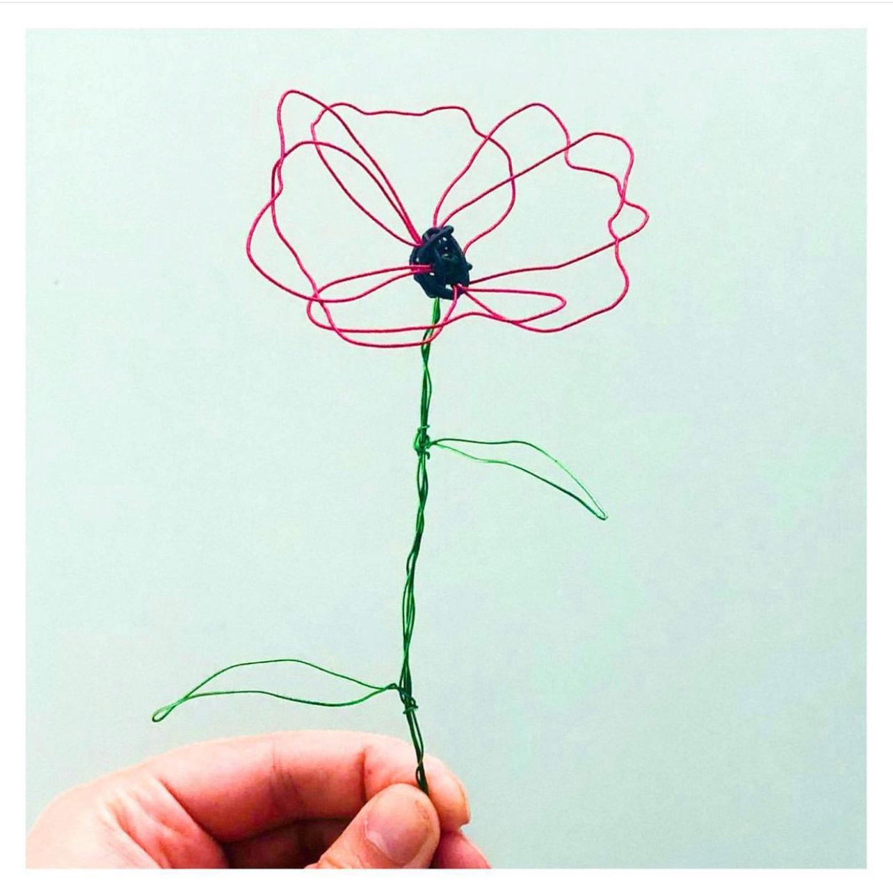 Adult wire flowers workshop
