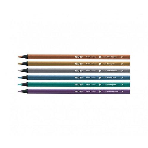 Metallic coloured pencil set
