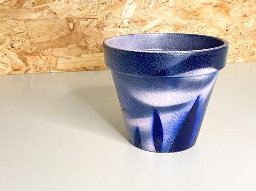 Painted plant pot medium