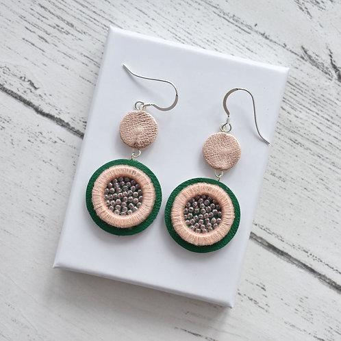 Embellished Double Hooks Earrings