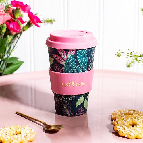 Leafy bamboo travel mug