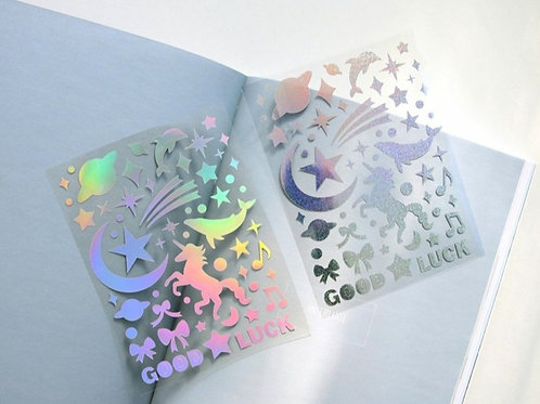 Unicorn hologram stickers