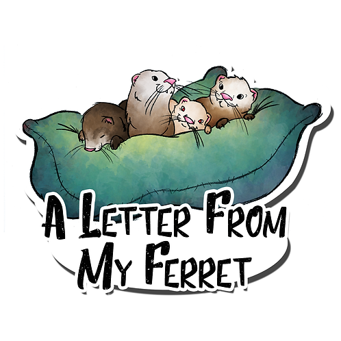 A Letter From My Ferret Ferret Family Magnet