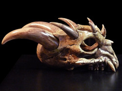 Baby Dragon Skull Candle Holder