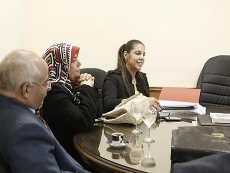 لقاء القنصل العام واعضاء الوفد المصري لبحث أحداث المدرسة المصرية بالدوحة