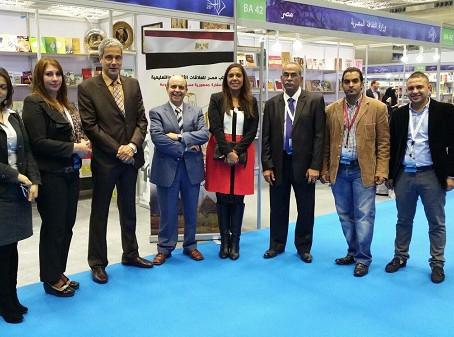 د.راندا رزق ترتدي ألوان علم مصر في افتتاح معرض قطر السادس والعشرين للكتاب
