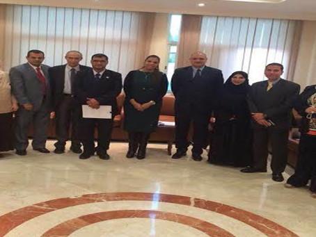 ترؤس الإجتماع الأول لأعضاء لجنة تسيير الأعمال بالمدرسة المصرية للغات