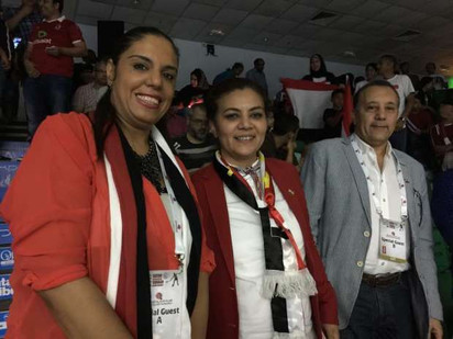 د.راندا رزق تحضر حفل افتتاح بطولة قطر كلاسيك للإسكواش