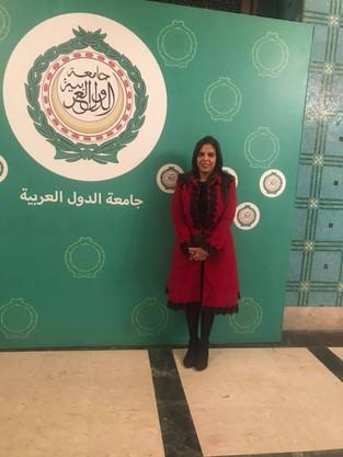 جامعة الدول العربية تكرم الدكتورة راندا رزق لجهودها في دعم المركز العربي للوعي بالقانون
