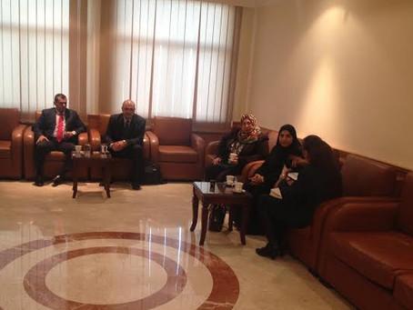 ترؤس إجتماع أعضاء المجلس المعين لإدارة المدرسة المصرية للغات