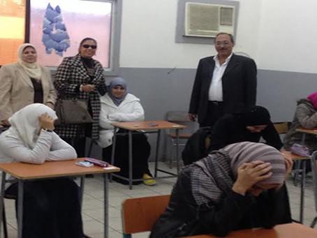 متابعة سير امتحانات الشهادات بالمدارس المصرية بالدوحة