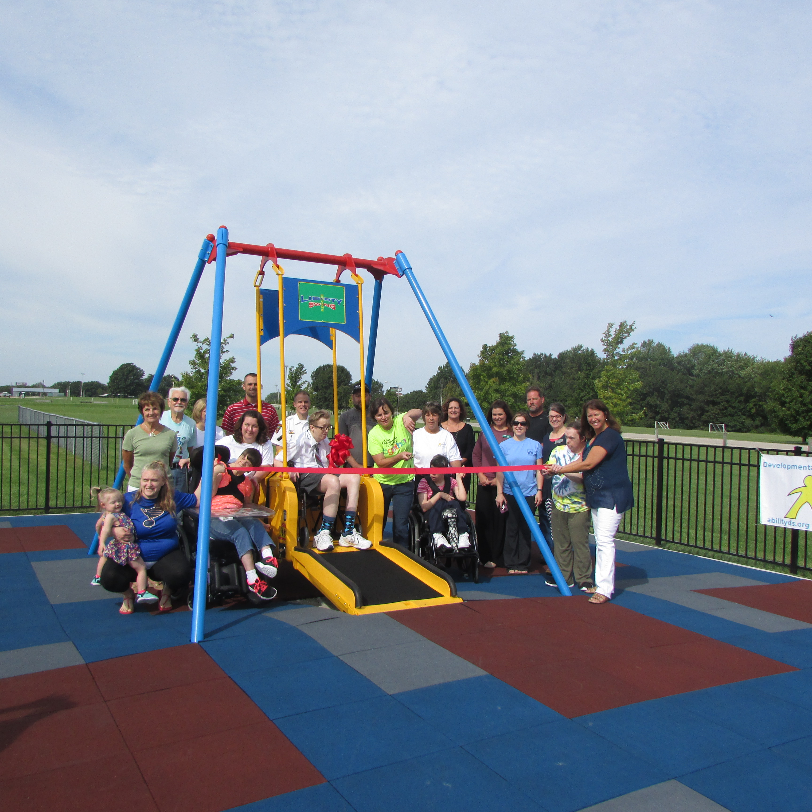 Liberty Swing Ribbon Cutting