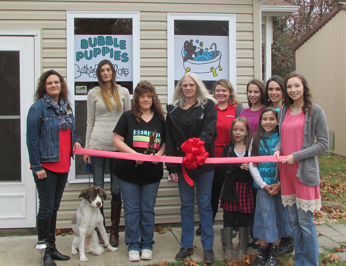 Bubble Puppies Ribbon Cutting