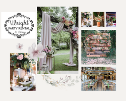 Beige and Pink Soft and Dainty Wedding M