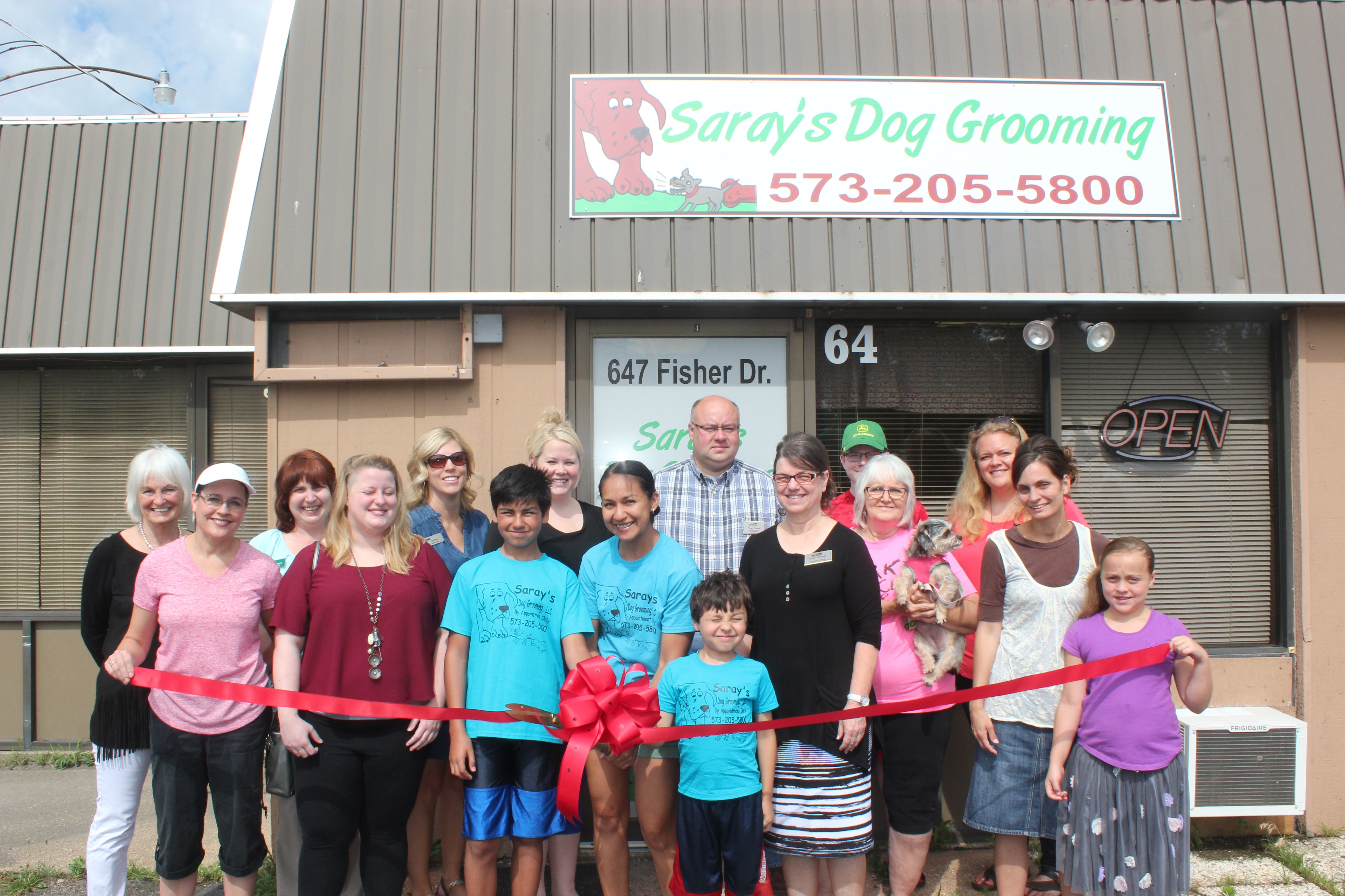 Saray's Dog Grooming ribbon cutting.jpg