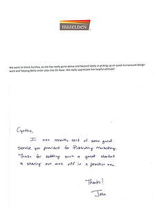 Thanks from HBFF Brand Marketing Manager
