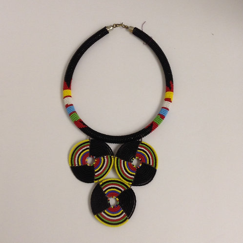 Triangle 3-Disc Rainbow Necklace