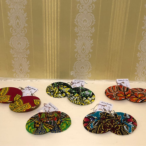 Kitenge Disc Earrings