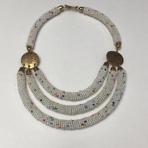 3-Row Beaded Necklace