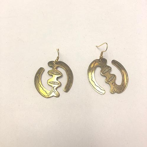 Gye Nyame Metal Earrings