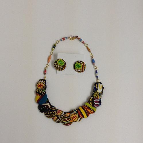Kitenge 1-Row Disc Necklace & Set