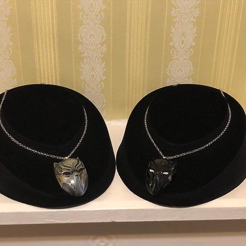 Black Panther Mask Necklace