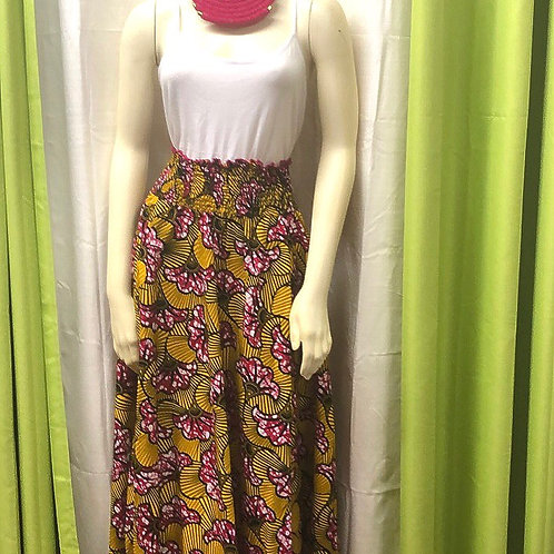 Fan Flower Long Skirt