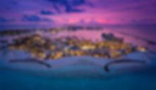 Hard Rock Hotel Maldives - Areal sunset.j