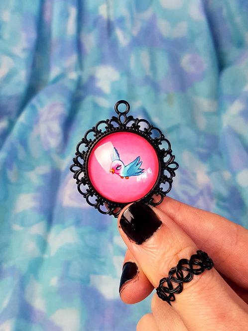 Lovebird Pendant by Miss E