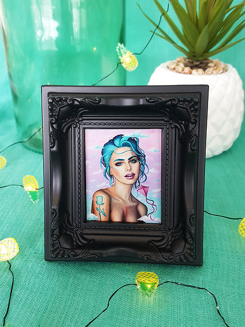 Mini Framed Print Transcending by Miss E (black)