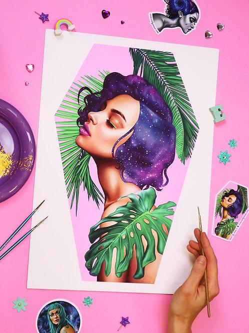 Hand-Embellished Paradise Print