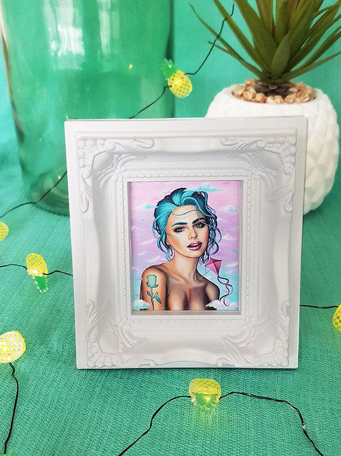 Mini Framed Print Transcending by Miss E (white)