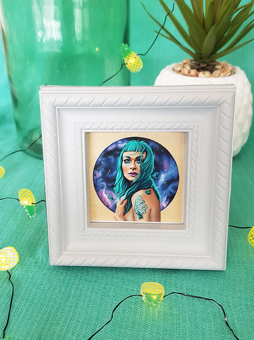 Mini Framed Print Existing by Miss E (white)