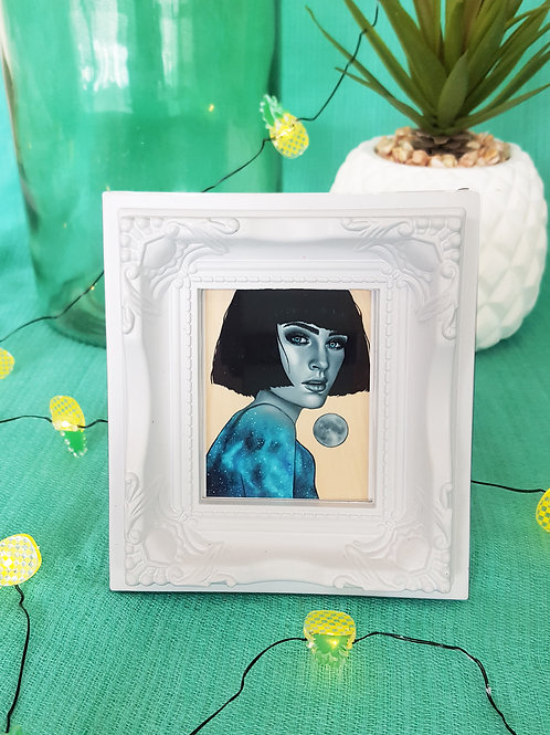 Mini Framed Print Luminescence by Miss E (white)