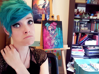 My painting muscles hurt.