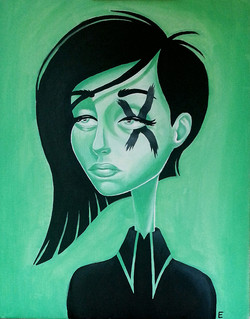 """Green Lady"" by Miss E"