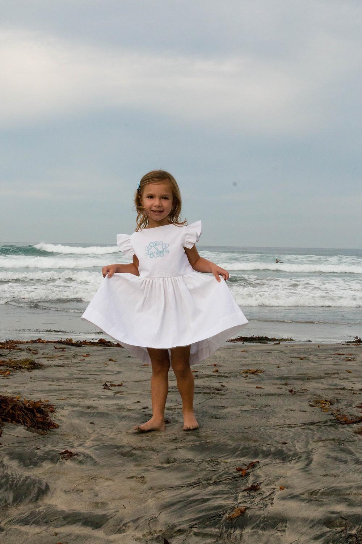 Girl children Portrait La Jolla Shores Beach