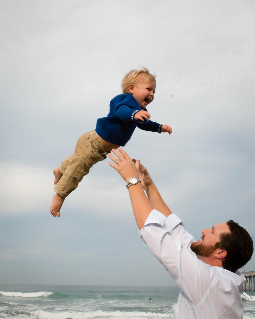 Boy and Dad Beach Lifestyle