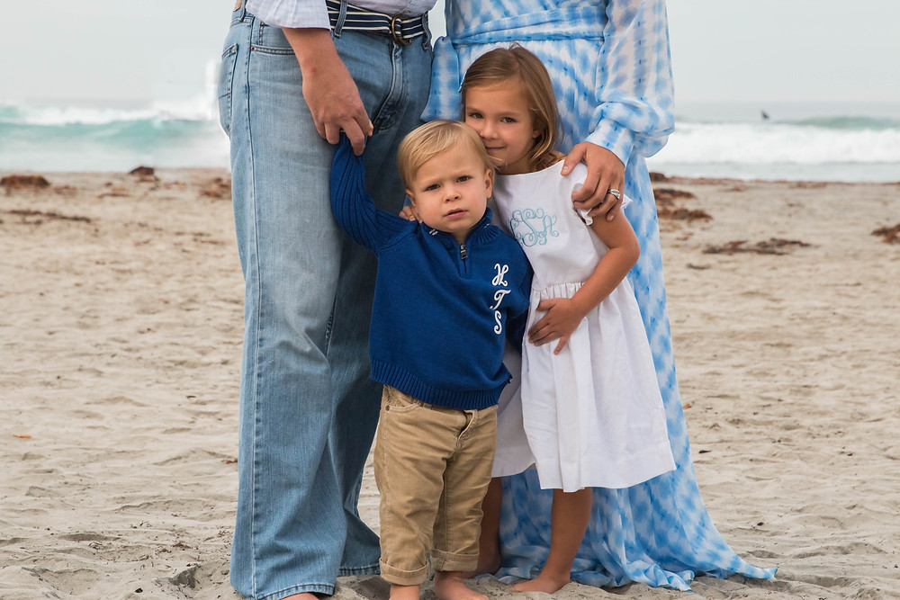Family Lifestyle Portrait Beach Session La Jolla Shores California