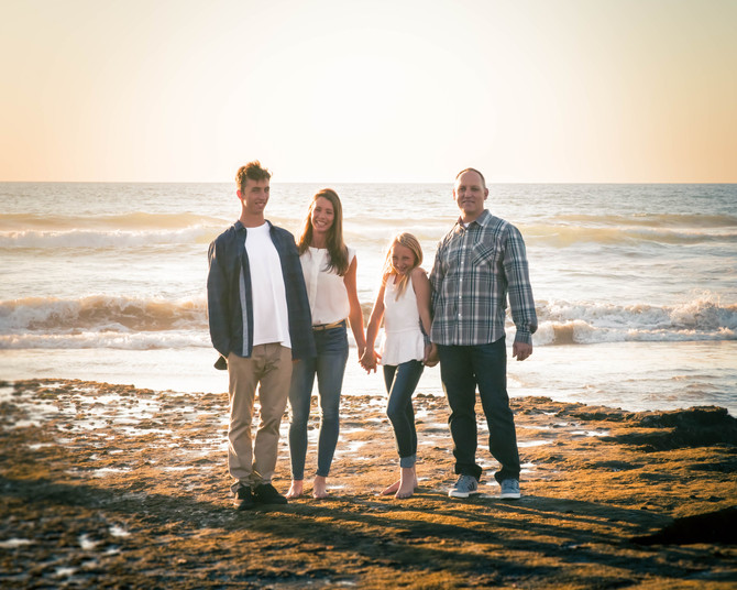 San Diego Family Beach Portrait Session | Seaside Beach Encinitas